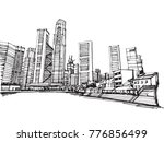 free hand drawing sketch vector ... | Shutterstock .eps vector #776856499