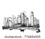 free hand drawing sketch vector ... | Shutterstock .eps vector #776856505