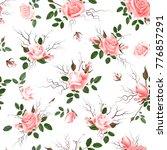 vintage floral seamless...   Shutterstock .eps vector #776857291
