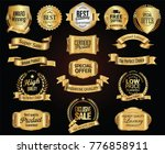 luxury retro badges gold and... | Shutterstock .eps vector #776858911
