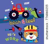 bear builder cartoon vector   Shutterstock .eps vector #776860255
