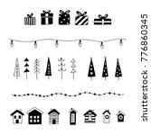 christmas decoration set. gift  ... | Shutterstock .eps vector #776860345
