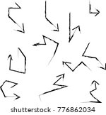 grunge dirt arrow vector. dry... | Shutterstock .eps vector #776862034