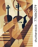 abstract musical background ...   Shutterstock . vector #776862079