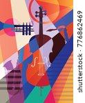 abstract jazz art  music... | Shutterstock .eps vector #776862469