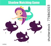 shadow matching game for... | Shutterstock .eps vector #776863315