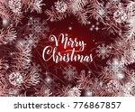 elegant christmas red... | Shutterstock .eps vector #776867857