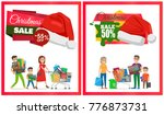 two christmas sale posters... | Shutterstock .eps vector #776873731