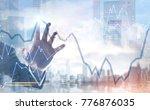 hand of a businessman wearing a ... | Shutterstock . vector #776876035
