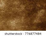 orange color artificial fur... | Shutterstock . vector #776877484