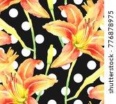 watercolor hand paint orange... | Shutterstock . vector #776878975