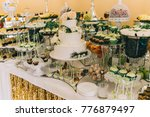 beautiful wedding cake... | Shutterstock . vector #776879497