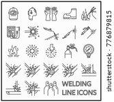 welding line icon graphic... | Shutterstock .eps vector #776879815