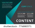 template layout design  leaflet ... | Shutterstock .eps vector #776880571