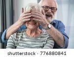 surprise moment. portrait of... | Shutterstock . vector #776880841