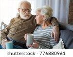honest conversation. portrait... | Shutterstock . vector #776880961