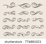 design elements.decorative... | Shutterstock .eps vector #776881021