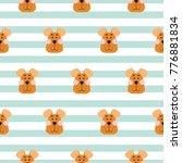 Stock vector puppy head seamless pattern cartoon design vector boy clothing textile design 776881834