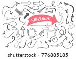 hand drawn doodle arrows ... | Shutterstock .eps vector #776885185
