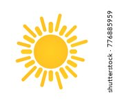 sunny weather sign icon. yellow ... | Shutterstock .eps vector #776885959