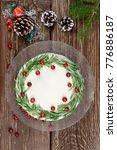 homemade cake for christmas... | Shutterstock . vector #776886187