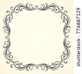 old cute romantic book ribbon... | Shutterstock .eps vector #776887129