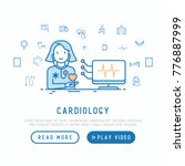 cardiologist with... | Shutterstock .eps vector #776887999