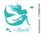 mermaid  silhouette  hand drawn ... | Shutterstock .eps vector #776888194