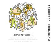 travel outdoor adventure hand... | Shutterstock .eps vector #776888581