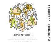 travel outdoor adventure hand... | Shutterstock .eps vector #776888581