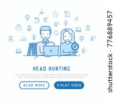 head hunting concept  hr... | Shutterstock .eps vector #776889457