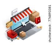 shopping e commerce concept | Shutterstock .eps vector #776893381