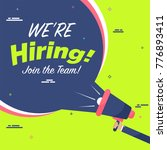 we are hiring  announcement... | Shutterstock .eps vector #776893411