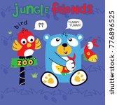 jungle friends cartoon vector   Shutterstock .eps vector #776896525
