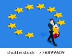 brexit concept. a british... | Shutterstock .eps vector #776899609