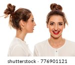 front  and side vide of young... | Shutterstock . vector #776901121