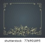 floral ornate frame with place... | Shutterstock .eps vector #776901895