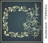 elegant background with lace... | Shutterstock .eps vector #776902411