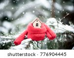 christmas toy house is wrapped... | Shutterstock . vector #776904445