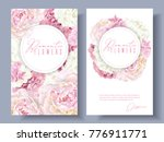 vector botanical banners with... | Shutterstock .eps vector #776911771