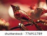 christmas tree decoration  bird | Shutterstock . vector #776911789