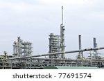 petrochemical plant - stock photo