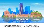 monaco city skyline with... | Shutterstock .eps vector #776918017