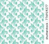 ornamental turquoise pattern   Shutterstock .eps vector #776919277
