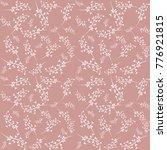 seamless floral pink pattern....   Shutterstock .eps vector #776921815