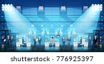 control center security room... | Shutterstock .eps vector #776925397