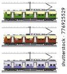 indian railway local train   Shutterstock .eps vector #776925529
