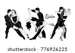 salsa dance vector.set of... | Shutterstock .eps vector #776926225