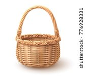 Rounded Wooden Basket Separate...