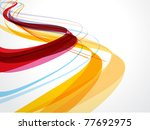 abstract wave background... | Shutterstock .eps vector #77692975